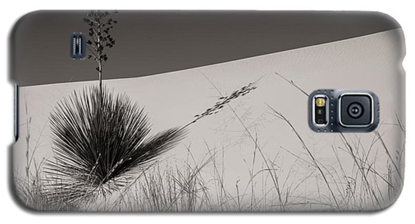 Galaxy S5 Case featuring the photograph Yucca In The Sand I by Sherry Davis