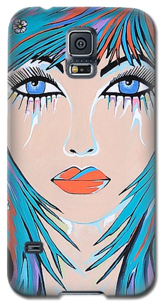 Galaxy S5 Case featuring the painting Zahara by Kathleen Sartoris