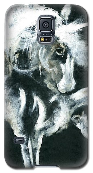 Galaxy S5 Case featuring the painting Unicorn by Barbie Batson
