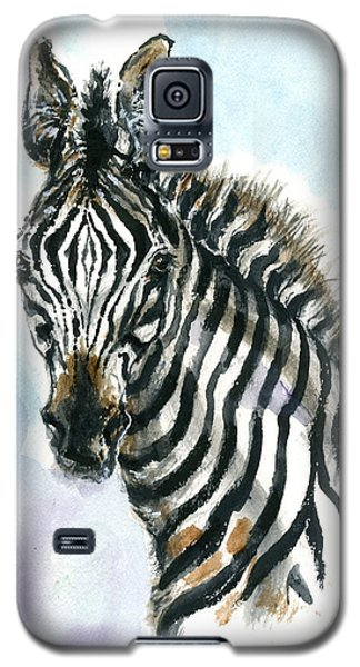 Galaxy S5 Case featuring the painting Zebra 1 by Mary Armstrong
