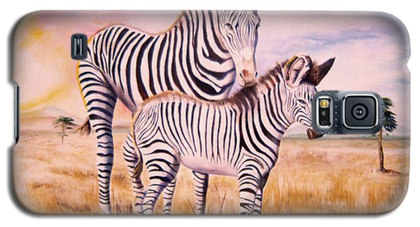 Zebra And Foal Galaxy S5 Case