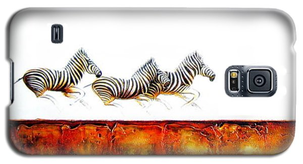 Zebra Crossing - Original Artwork Galaxy S5 Case