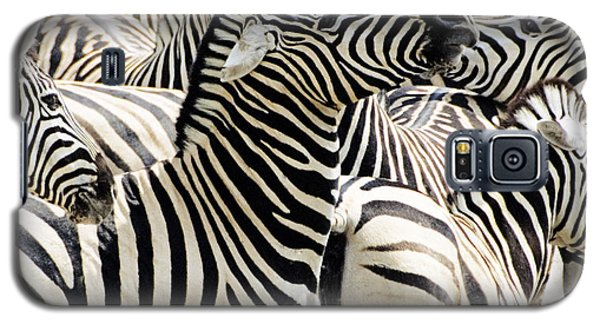 Galaxy S5 Case featuring the photograph Zebra Gathering by Dennis Cox WorldViews
