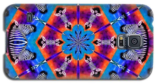 Zebra Kaleidoscope Galaxy S5 Case by Elizabeth Budd