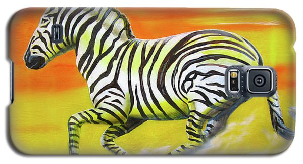 Zebra Kicking Up Dust Galaxy S5 Case