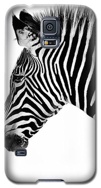 Zebra Profile Black And White Galaxy S5 Case