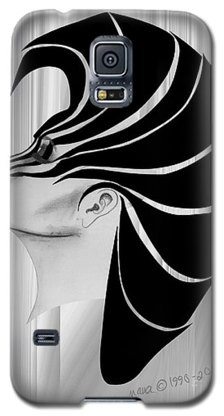 Galaxy S5 Case featuring the drawing Zebra Punk by Marianne NANA Betts