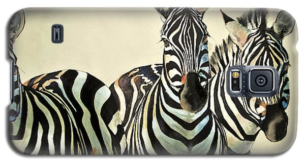 Galaxy S5 Case featuring the drawing Zebras Drawing by Maja Sokolowska
