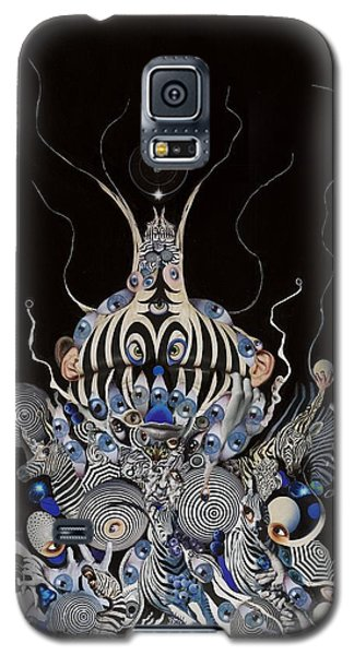 Galaxy S5 Case featuring the mixed media Zebratiki by Douglas Fromm