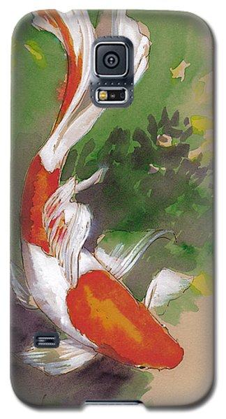 Koi Galaxy S5 Case - Zen Comet Goldfish by Tracie Thompson