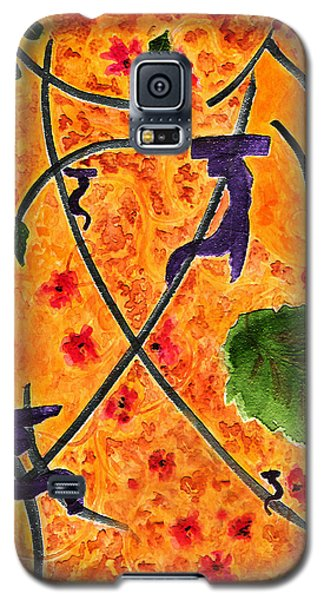 Galaxy S5 Case featuring the painting Zen Garden by Paula Ayers