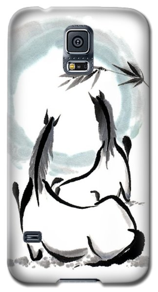 Galaxy S5 Case featuring the painting Zen Horses Into The Vortex by Bill Searle