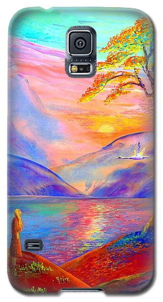 Swan Galaxy S5 Case -  Flying Swan, Zen Moment by Jane Small