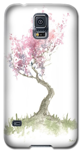 Galaxy S5 Case featuring the painting Zen Tree In Spring by Sean Seal
