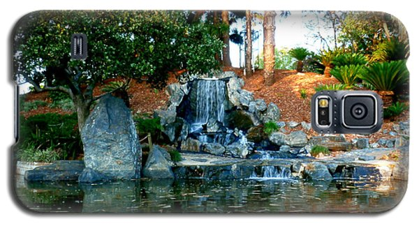 Galaxy S5 Case featuring the photograph Zen Waterfall II by Therese Alcorn