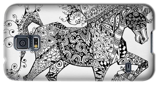 Zentangle Circus Horse Galaxy S5 Case