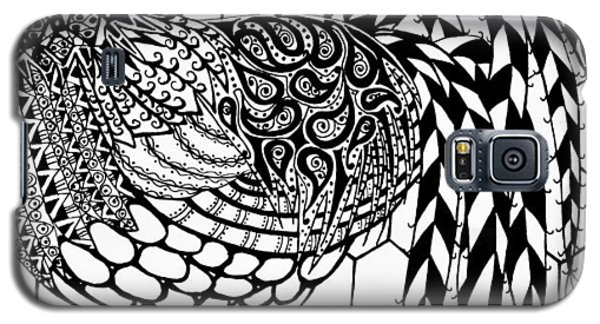 Zentangle Rooster Galaxy S5 Case by Jani Freimann