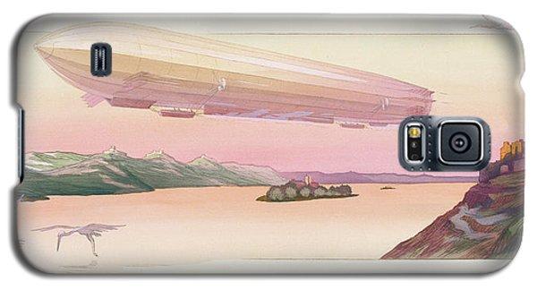 Zeppelin, Published Paris, 1914 Galaxy S5 Case by Ernest Montaut