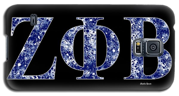 Galaxy S5 Case featuring the digital art Zeta Phi Beta - Black by Stephen Younts