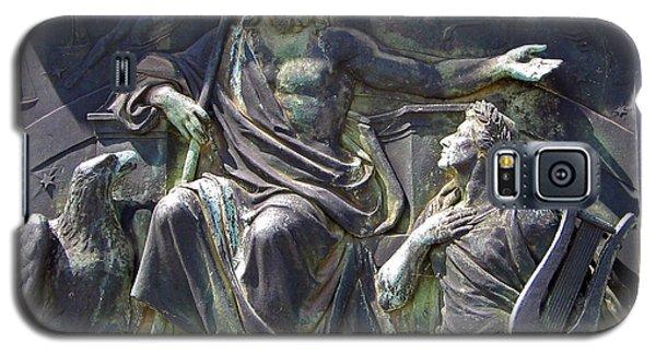 Galaxy S5 Case featuring the photograph Zeus Bronze Statue Dresden Opera House by Jordan Blackstone