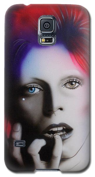 Celebrities Galaxy S5 Case - Ziggy Stardust by Christian Chapman Art
