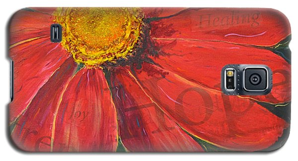 Zinnia Of Hope Galaxy S5 Case by Lisa Fiedler Jaworski