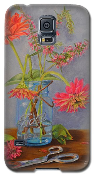 Zinnias From The Garden Galaxy S5 Case
