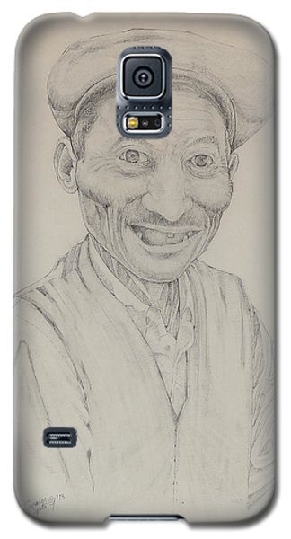 Galaxy S5 Case featuring the drawing Forenza Vita Zio Michele by Giovanni Caputo