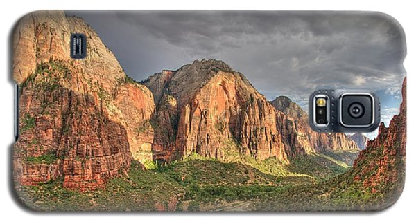 Galaxy S5 Case featuring the photograph Zion Canyon by Jeff Cook