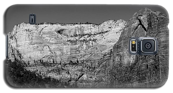 Zion Cliff And Arch B W Galaxy S5 Case