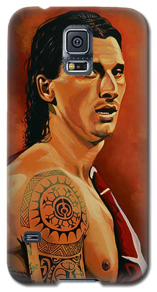 Zlatan Ibrahimovic Painting Galaxy S5 Case by Paul Meijering