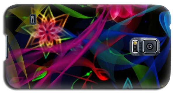 Galaxy S5 Case featuring the digital art Zodiac Flowers by Gayle Price Thomas