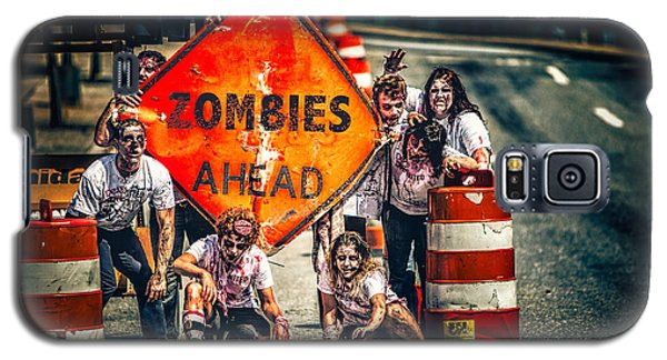 Galaxy S5 Case featuring the photograph Zombies Ahead by Joshua Minso