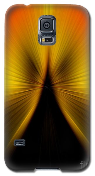 Zoom Orange Yellow Galaxy S5 Case by Trena Mara
