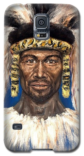 Galaxy S5 Case featuring the painting Zulu Warrior by Arturas Slapsys