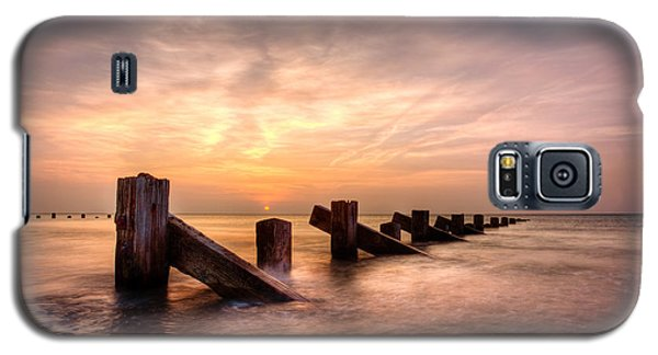 Galaxy S5 Case featuring the photograph  Abermaw Sunset by Beverly Cash