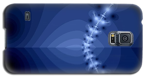 Galaxy S5 Case featuring the digital art  An Artistic Colored Fantasy Fractal Background. by Odon Czintos