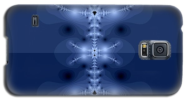 Galaxy S5 Case featuring the digital art  Blue Fractal by Odon Czintos