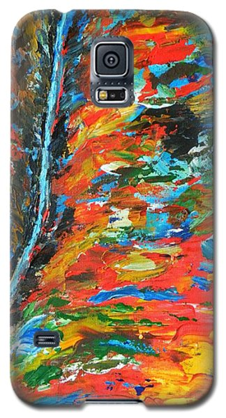 Galaxy S5 Case featuring the painting  Canyon River by Everette McMahan jr