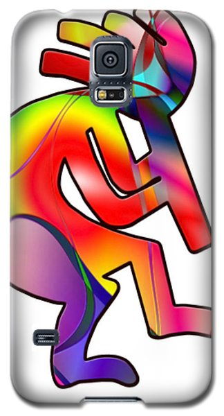 Galaxy S5 Case featuring the photograph  Colorful Kokopelli Silhouette by Susan Leggett