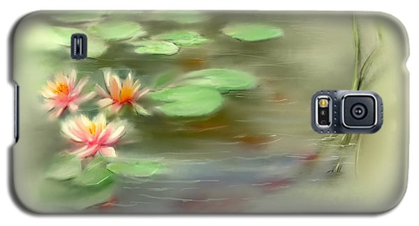 Galaxy S5 Case featuring the painting  Gold Fish Pond by Bonnie Willis
