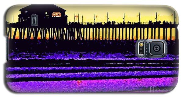 Galaxy S5 Case featuring the photograph  Huntington Beach Pier   by Everette McMahan jr