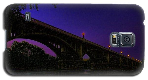 Night Glow On The Gervais Bridge Galaxy S5 Case