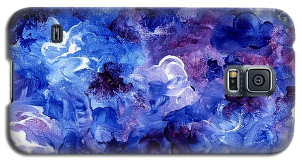 Painting Of Flowers Energy In Abstract Form Galaxy S5 Case by Annie Zeno