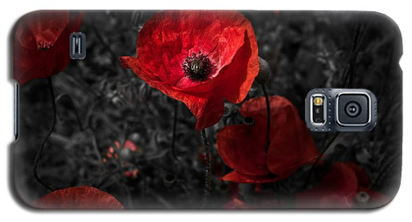 Galaxy S5 Case featuring the photograph  Poppy Red by Beverly Cash