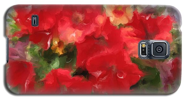 Red Petunia Galaxy S5 Case
