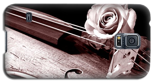 Rose Violin Viola Galaxy S5 Case