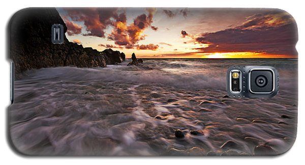 Sunset Tides - Porth Swtan Galaxy S5 Case
