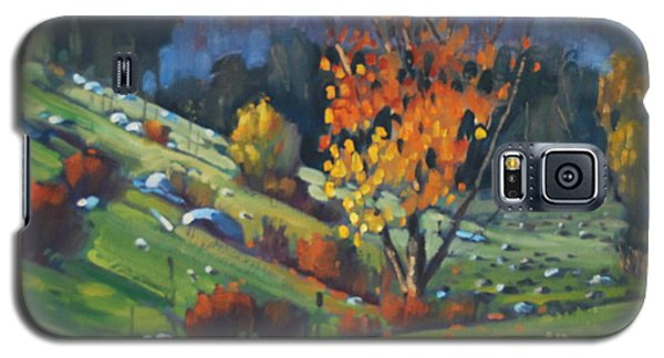 Galaxy S5 Case featuring the painting  The Berkshires by Len Stomski