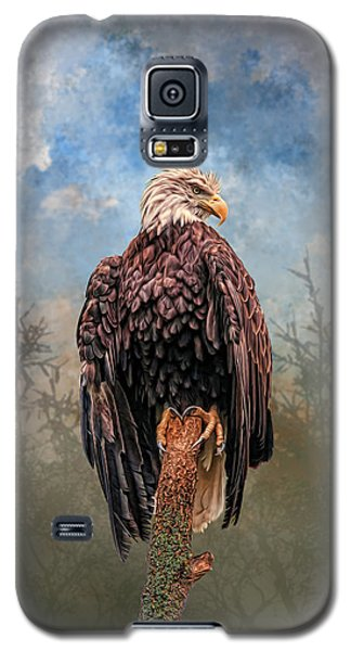 Galaxy S5 Case featuring the digital art American Bald Eagle by Mary Almond